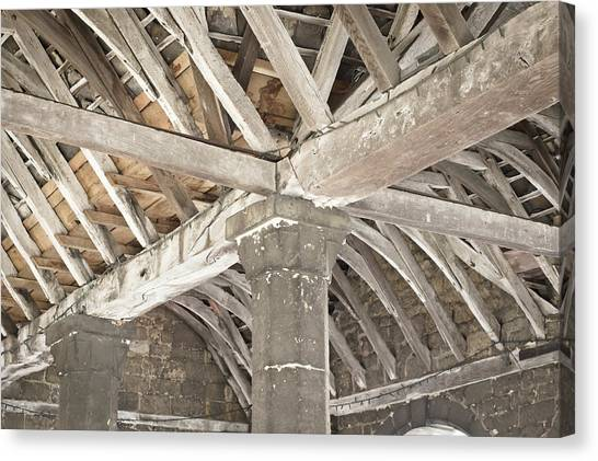 Brick House Canvas Print - Roof Timber by Tom Gowanlock