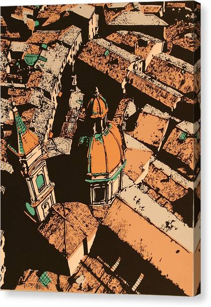 Roofs Of Bologna Canvas Print by Biagio Civale
