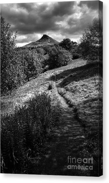 Yorkshire moors canvas print roseberry topping by smart aviation