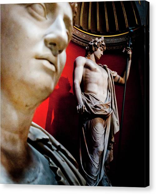 The Vatican Museum Canvas Print - Rotunda Colossals 1 Of 3 by Andy Smy