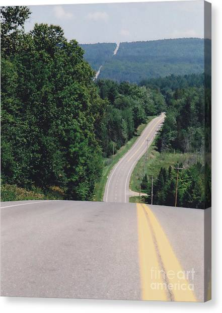 Route 6 Canvas Print by Lewis Lowell