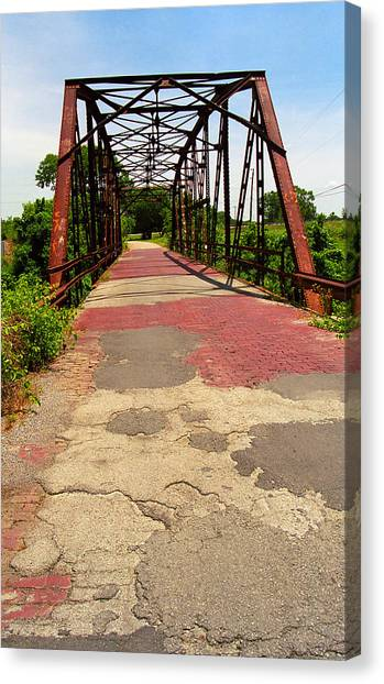 Route 66 - One Lane Bridge Canvas Print