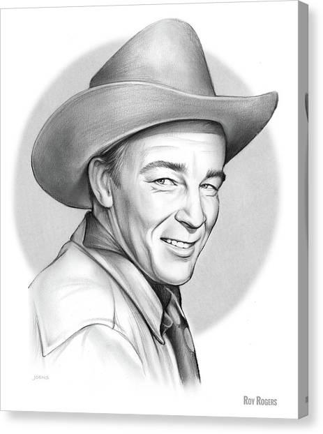 Cowboy Canvas Print - Roy Rogers by Greg Joens