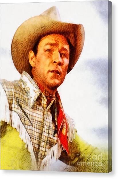 Stardom Canvas Print - Roy Rogers, Vintage Western Legend by John Springfield