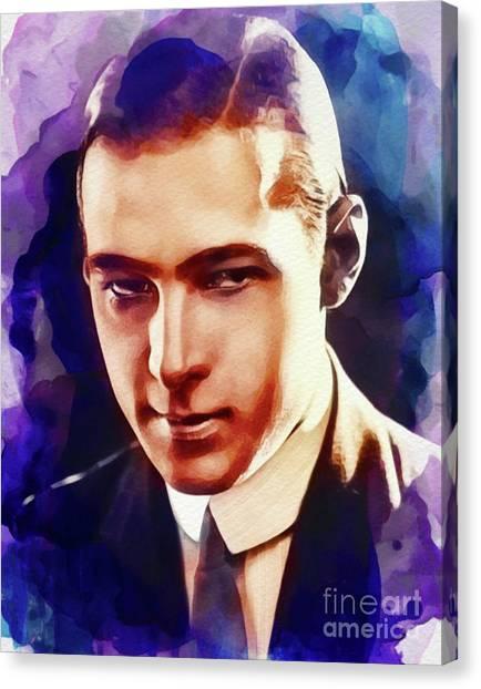 Stardom Canvas Print - Rudolph Valentino, Vintage Actor by John Springfield