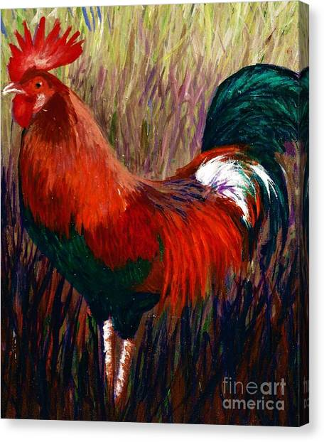 Rudy The Rooster Canvas Print