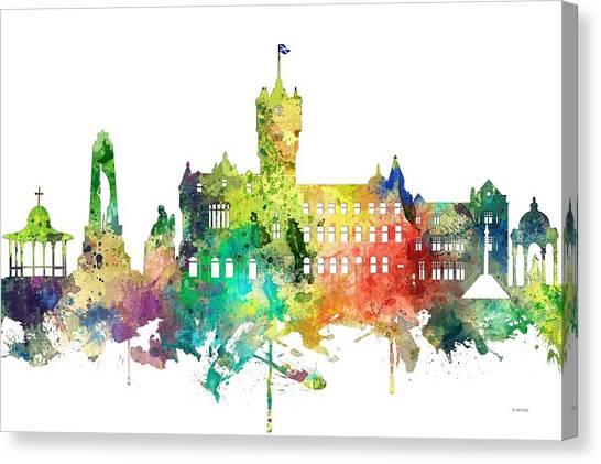 Rutherglen Scotland Skyline Canvas Print