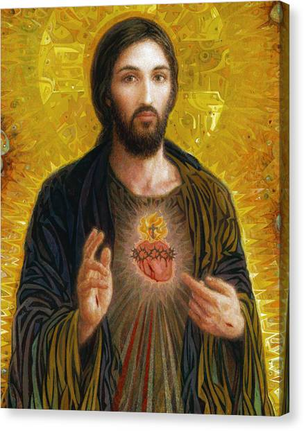 Religious Canvas Print - Sacred Heart Of Jesus by Smith Catholic Art
