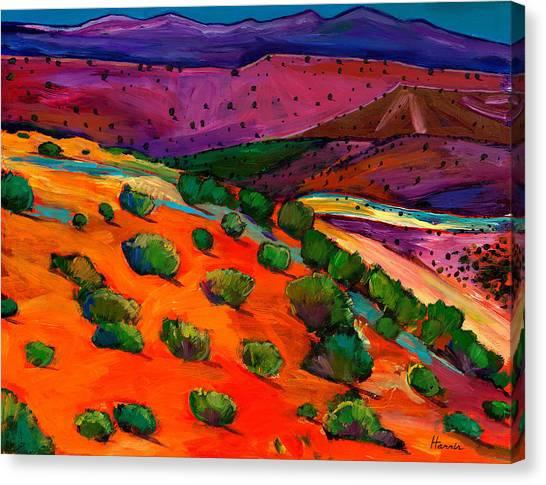 Mexican Canvas Print - Sage Slopes by Johnathan Harris