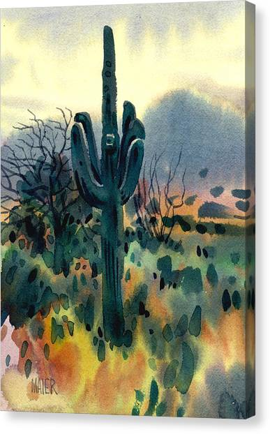 Cactus Canvas Print - Saguaro by Donald Maier