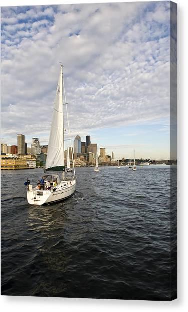 Sail Seattle Canvas Print by Tom Dowd