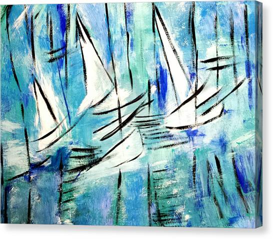 Sailing Blue Canvas Print