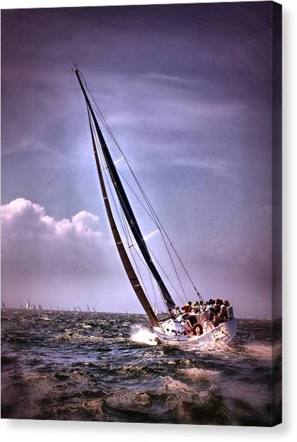 Sailing To Nantucket 003 Canvas Print