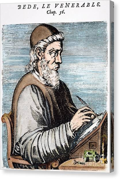 Early Christian Art Canvas Print - Saint Bede (c672-735) by Granger