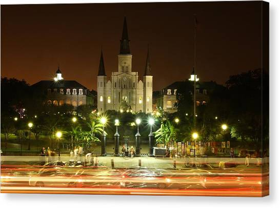 Saint Louis Cathedral In New Orleans Canvas Print