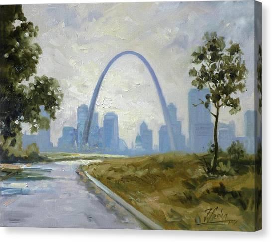 Saint Louis Panorama Canvas Print