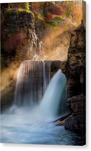 Canvas Print featuring the photograph Saint Mary Falls // Glacier National Park  by Nicholas Parker