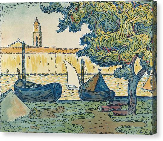 Divisionism Canvas Print - Saint-tropez by Paul Signac