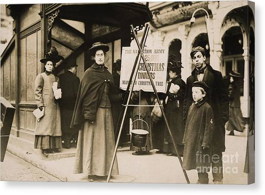 Salvation Army Canvas Print - Salvation Army, 1908 by Granger