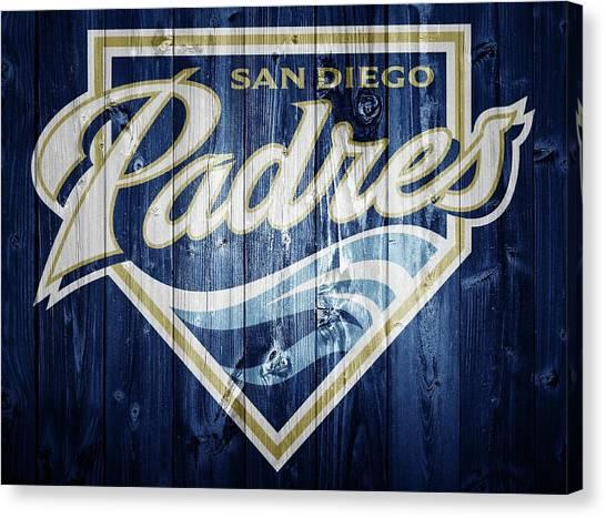 San Diego Padres Canvas Print - San Diego Padres Barn Door by Dan Sproul