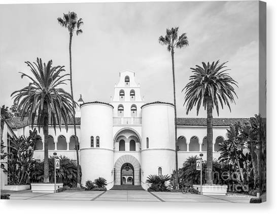 Graduate Degree Canvas Print - San Diego State University Hepner Hall  by University Icons