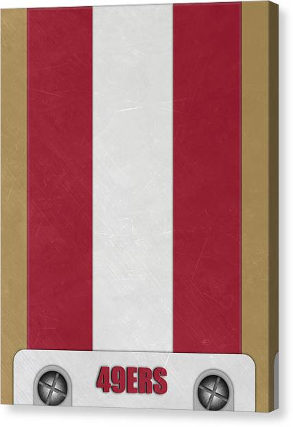 San Francisco 49ers Canvas Print - San Francisco 49ers Helmet Art by Joe Hamilton