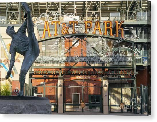 San Francisco Giants Att Park Juan Marachal O'doul Gate Entrance Dsc5790 Canvas Print