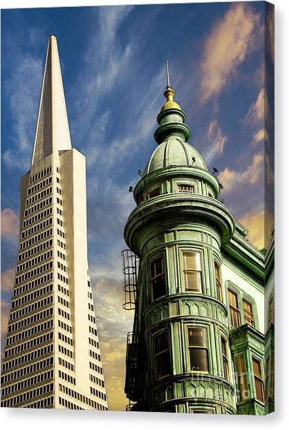 San Francisco Then And Now Canvas Print
