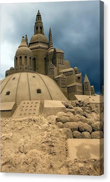 Sand Castles Canvas Print - Sand Castle by Sophie Vigneault