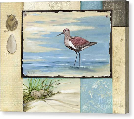 Sandpipers Canvas Print - Sandpiper Collage II by Paul Brent