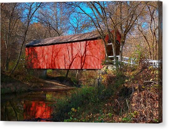 Sandy /creek Covered Bridge, Missouri Canvas Print