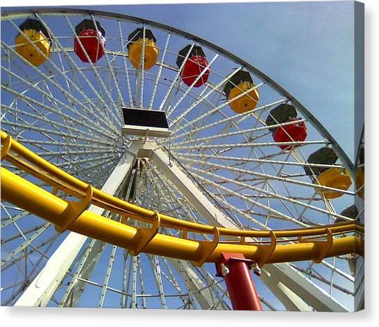 Santa Monica Pier Amusement Park Canvas Print