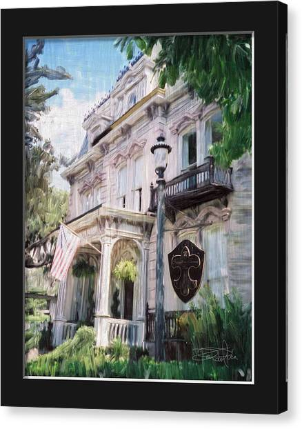 Girl Scouts Canvas Print - Savannah Original Home Of The Girl Scouts by Donald Pavlica