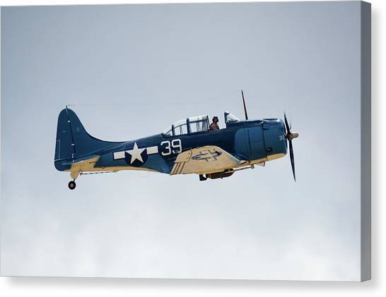 Sbd Dauntless Canvas Print by Brian Knott Photography