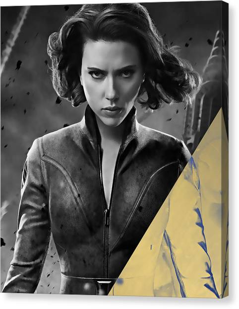 Avengers Canvas Print - Scarlett Johansson Black Widow Collection by Marvin Blaine