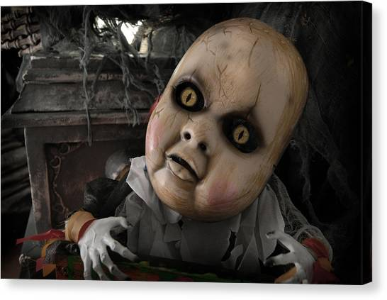 Scary Doll Canvas Print by Craig Incardone