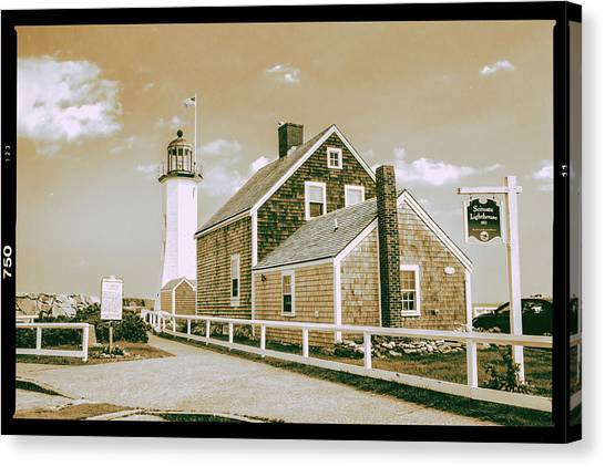 Scituate Lighthouse In Scituate, Ma Canvas Print