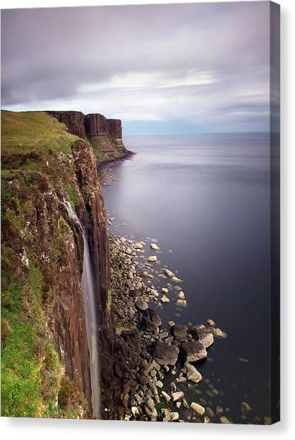 Scotland Canvas Print - Scotland Kilt Rock by Nina Papiorek