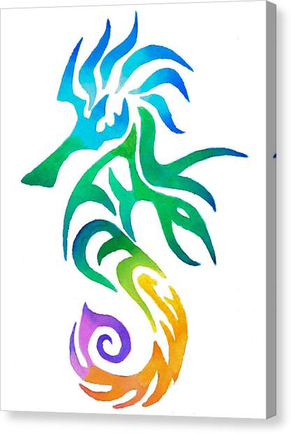 Seahorses Canvas Print - Seahorse by Sarah Krafft