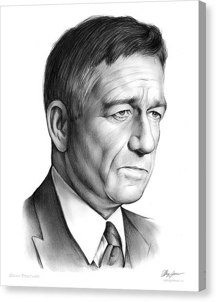 Pilots Canvas Print - Sean Pertwee by Greg Joens