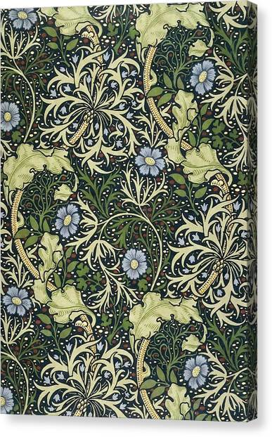 William Morris Canvas Print - Seaweed Pattern by William Morris