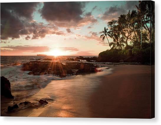 Secret Beach Maui Canvas Print by Seascaping Photography