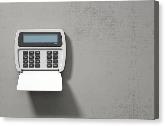 Keypad Canvas Print - Security System Panel  by Allan Swart