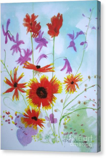 Selected Wild Flowers Canvas Print by Hal Newhouser