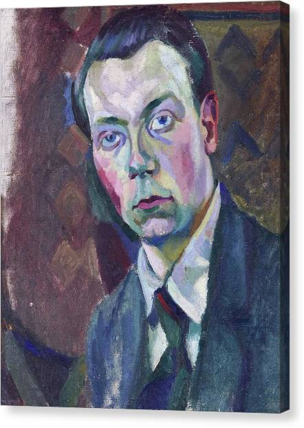 Lyrical Abstraction Canvas Print - Self-portrait by Robert Delaunay