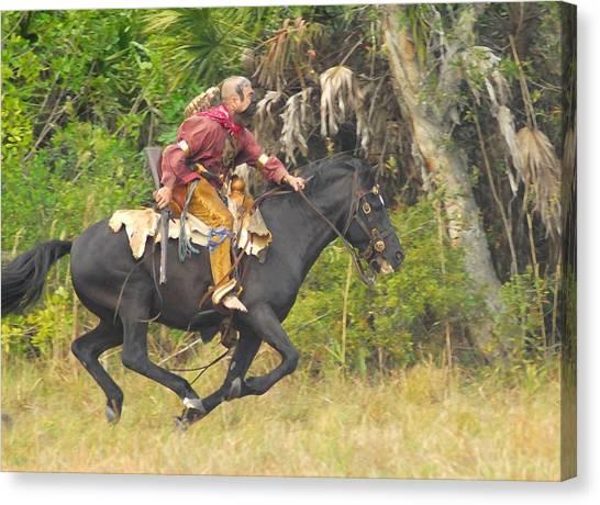 Seminole Indian Warrior Canvas Print