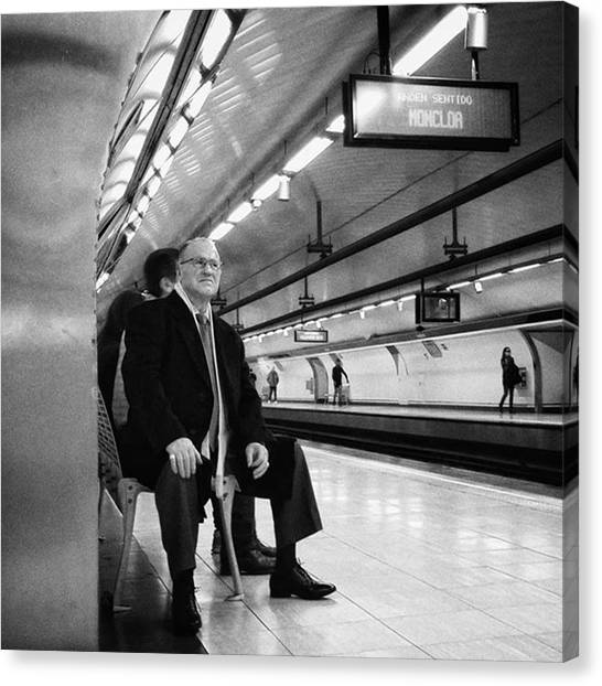 London Tube Canvas Print - Señor #señor #man  #portrait by Rafa Rivas
