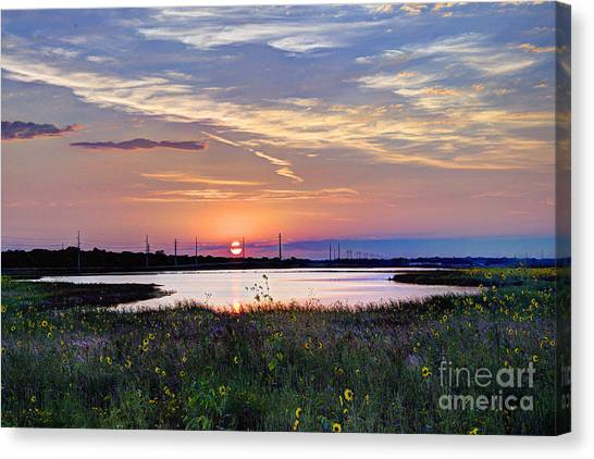 September Sunrise Over The Baker Wetlands Canvas Print