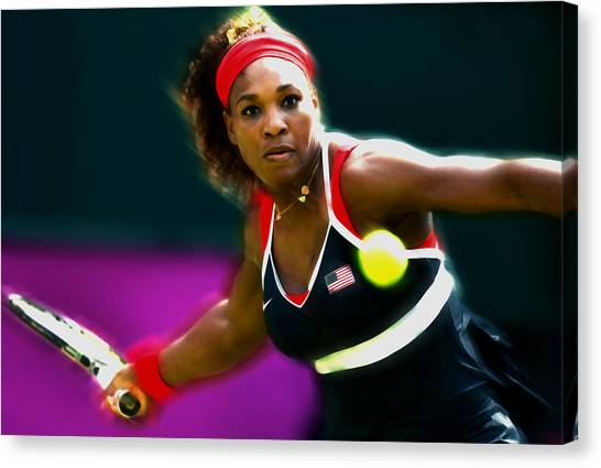 Maria Sharapova Canvas Print - Serena Williams Eye On The Prize by Brian Reaves