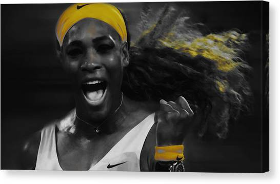Maria Sharapova Canvas Print - Serena Williams In The Zone by Brian Reaves